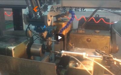外圆磨床加机械手视频